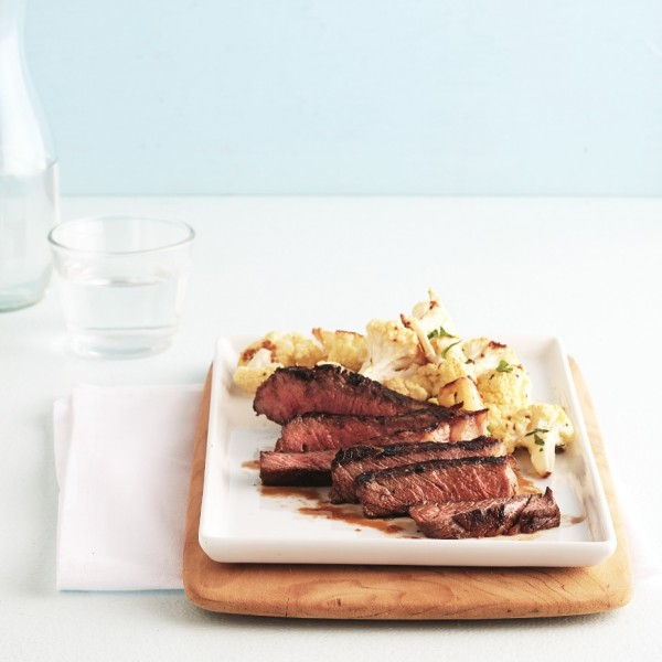 Garlic pan-fried steak