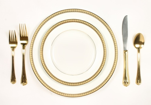 Dinner Setting charles the butler: top 10 rules of table manners