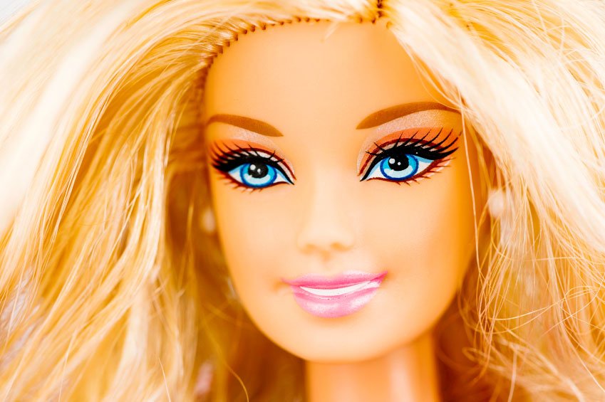 What would Barbie look like without her makeup?