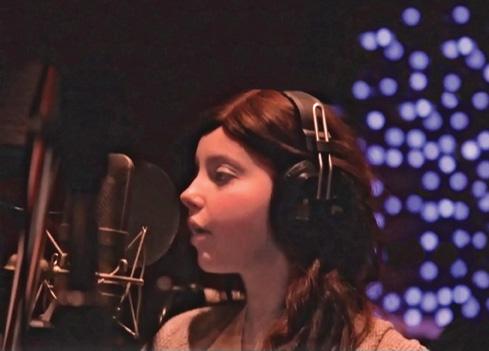 "Toronto teen Olivia Wise in the recording studio singing Katy Perry's ""Roar""."