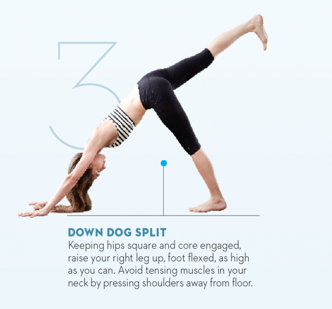 Tara-Stiles-yoga-workout-for-strength-donward-dog-split
