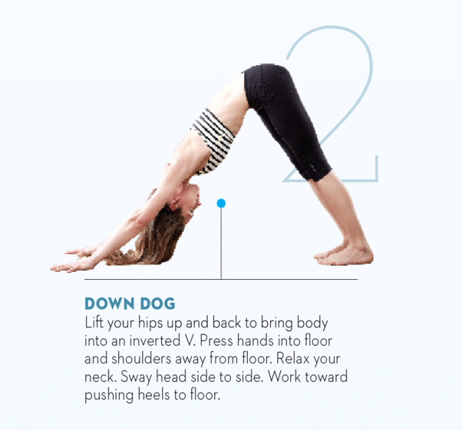 Tara-Stiles-yoga-workout-for-strength-downward-dog-pose