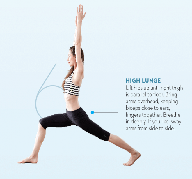 Tara-Stiles-yoga-workout-for-strength-high-lunge-pose