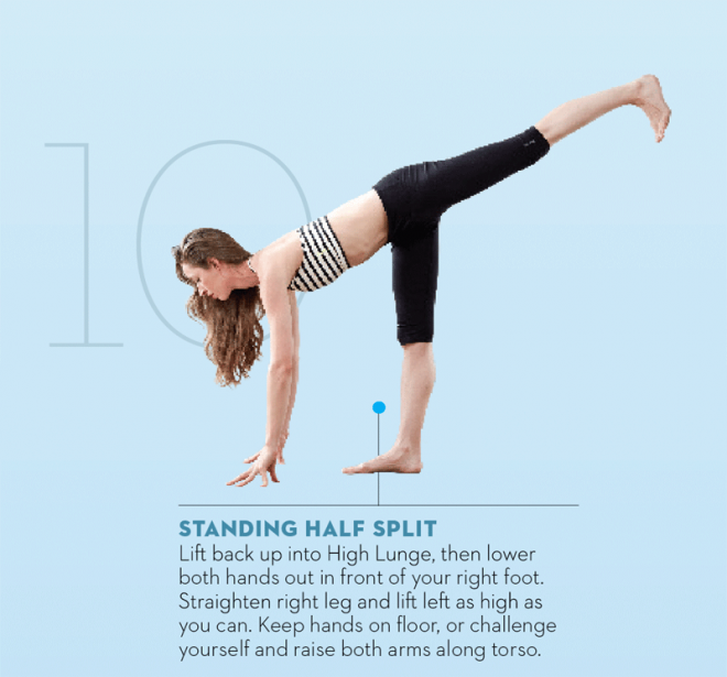 Tara-Stiles-yoga-workout-for-strength-standing-half-split-pose