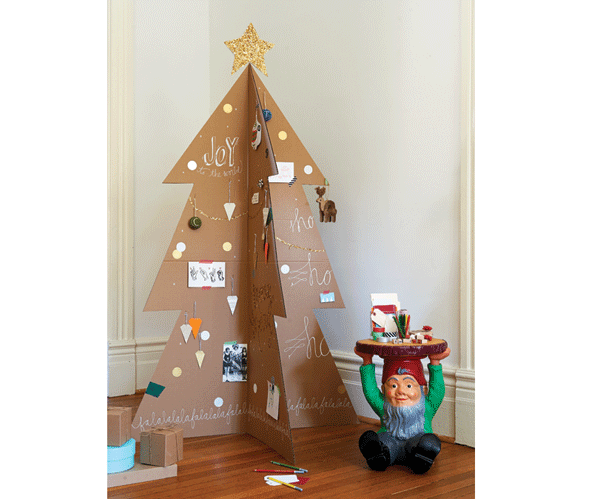 how to make a modern cardboard christmas tree chatelaine - Cardboard Christmas Decorations