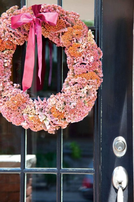 wreath made with dried flowers