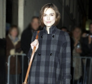 Actress Keira Knightley is seen leaving the Comedy Theatre after her performance of 'The Children's Hour' on February 18, 2011 in London, England. (Photo by Nat Jag/FilmMagic)