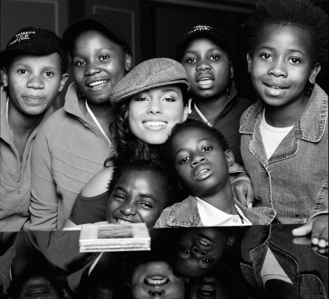 Star power: Alicia Keys is passionate about helping kids through her non-profit organization Keep a Child Alive.