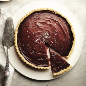 Salted caramel and chocolate tart. (Photo, Erik Putz.)