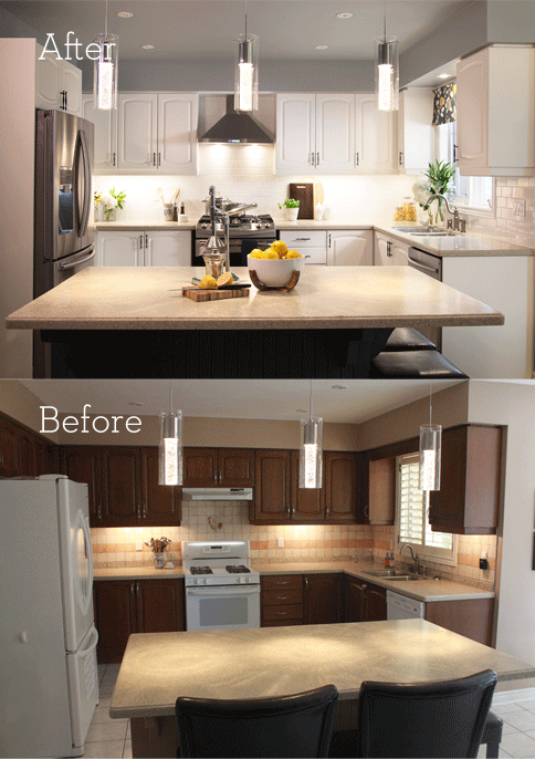 Kitchen Makeovers On A Budget Before And After Simple Kitchen Makeover On A Budget Tipsleighann Allaire Perrault Inspiration