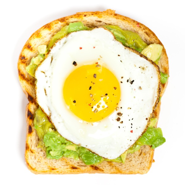 Crispy lemon eggs and avocado on toast