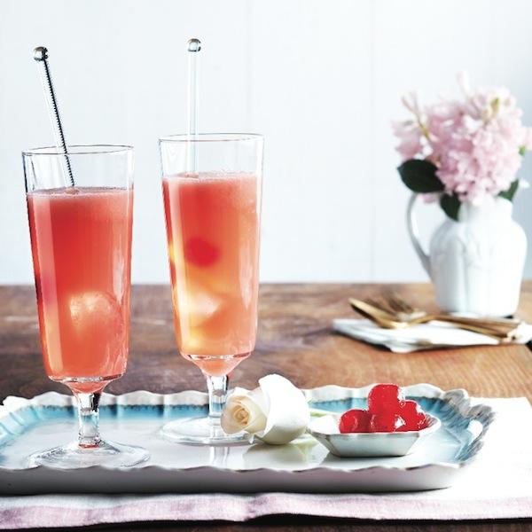 Rhubarb sour cocktail