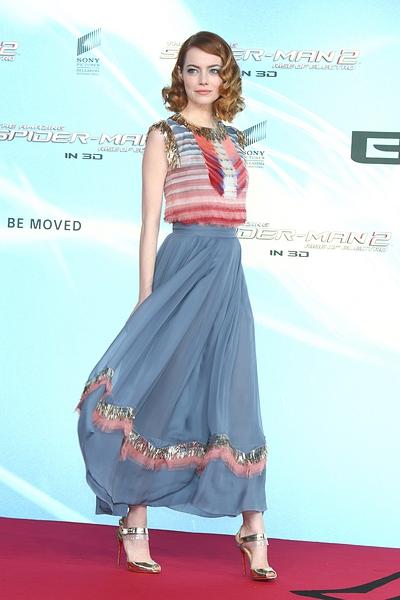 Emma Stone at Spider Man 2 premiere