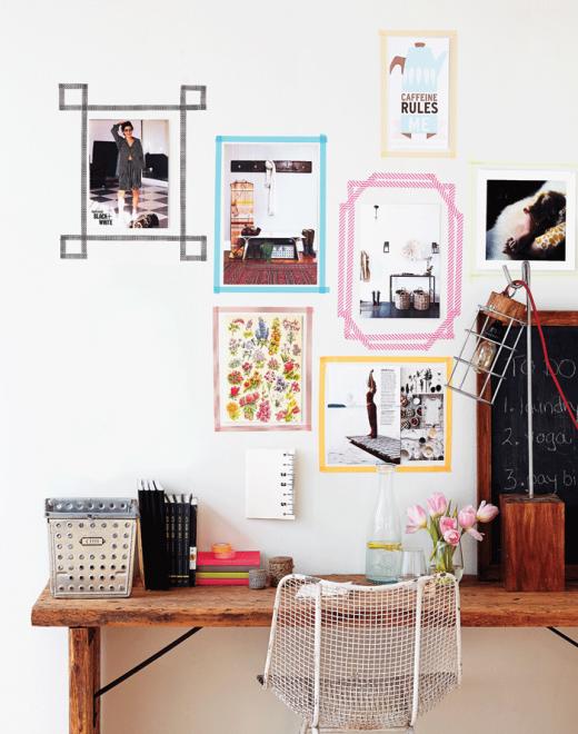 Create Modern Wall Art Frames With Washi Tape