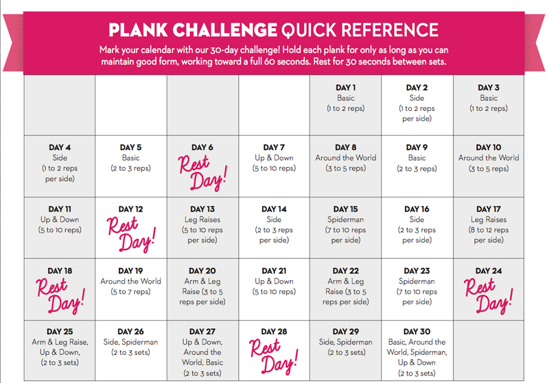30 Day Flat Abs Challenge! – Blogilates