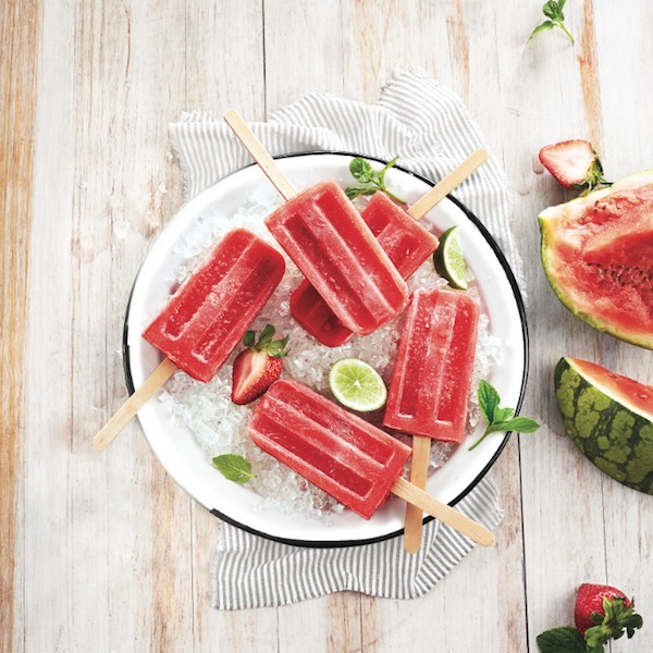 Boozy watermelon ice pops