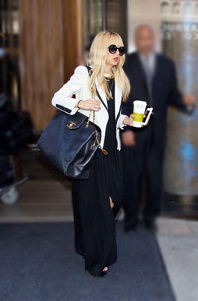 Rachel Zoe leaving her hotel in Soho