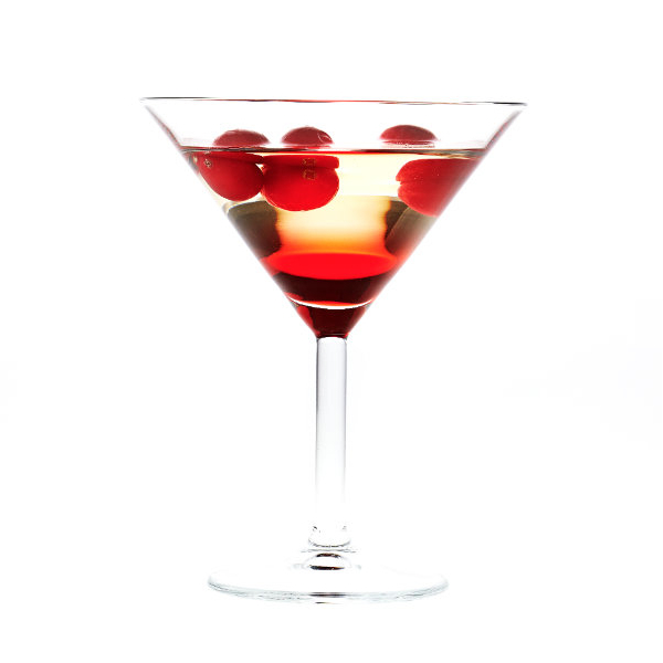 White cosmopolitan cocktail
