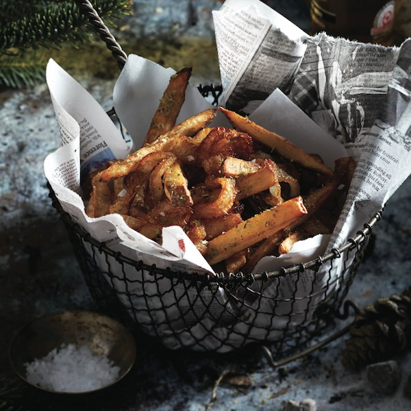 Campfire french fries