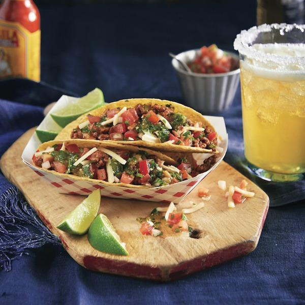 Saucy beef tacos