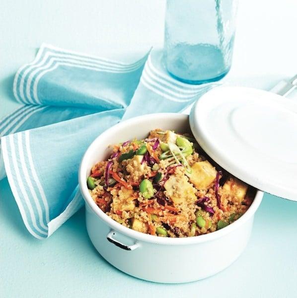 Thai tofu-quinoa bowl