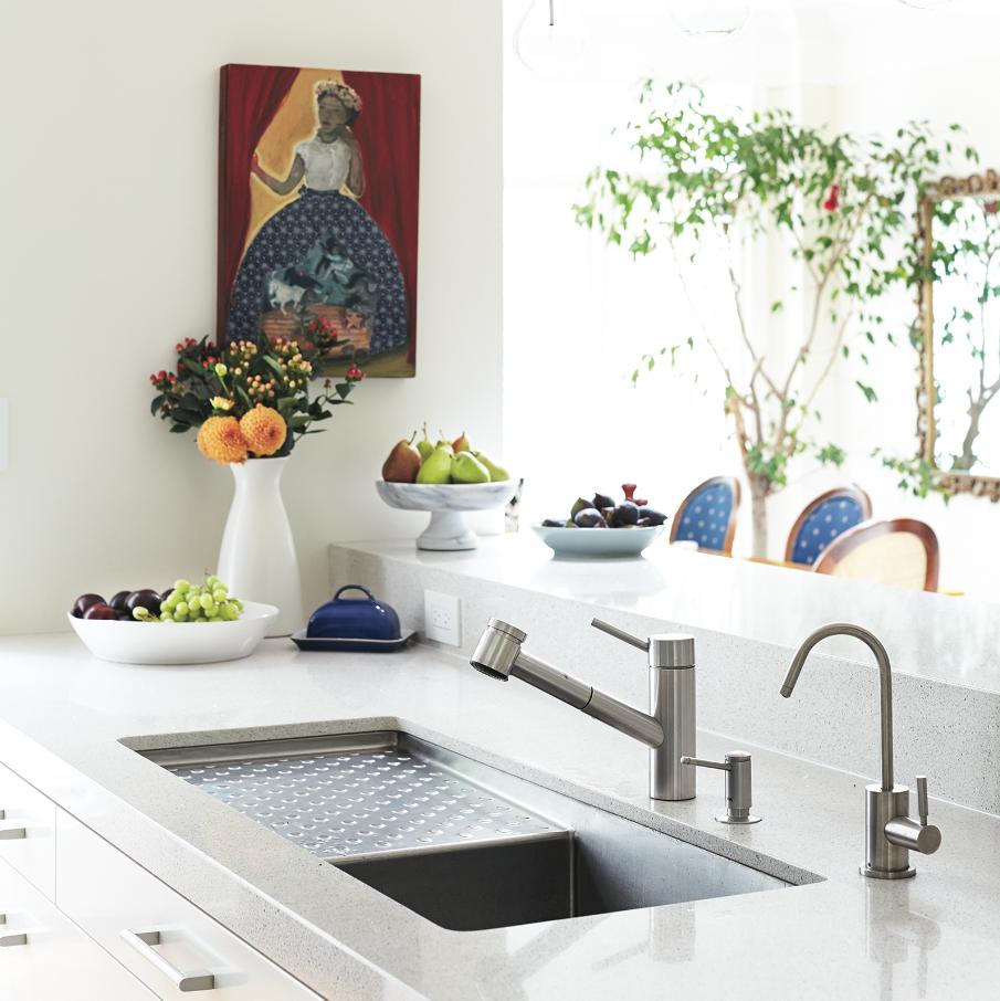 light countertop kitchen bar white caesarstone