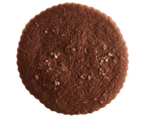 Chocolate and sea salt shortbread cookies