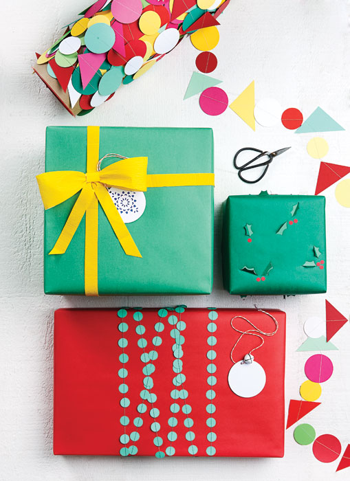 <b>Whimsical wrapping paper</b>