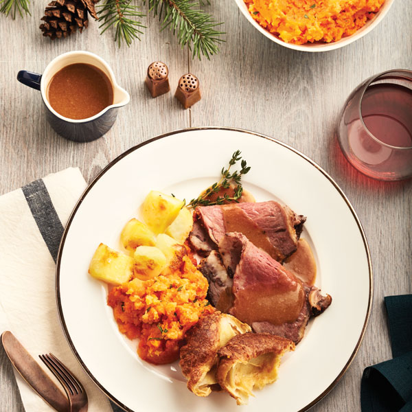 Traditional English Christmas Dinner.Holiday Dinner Menu Chatelaine