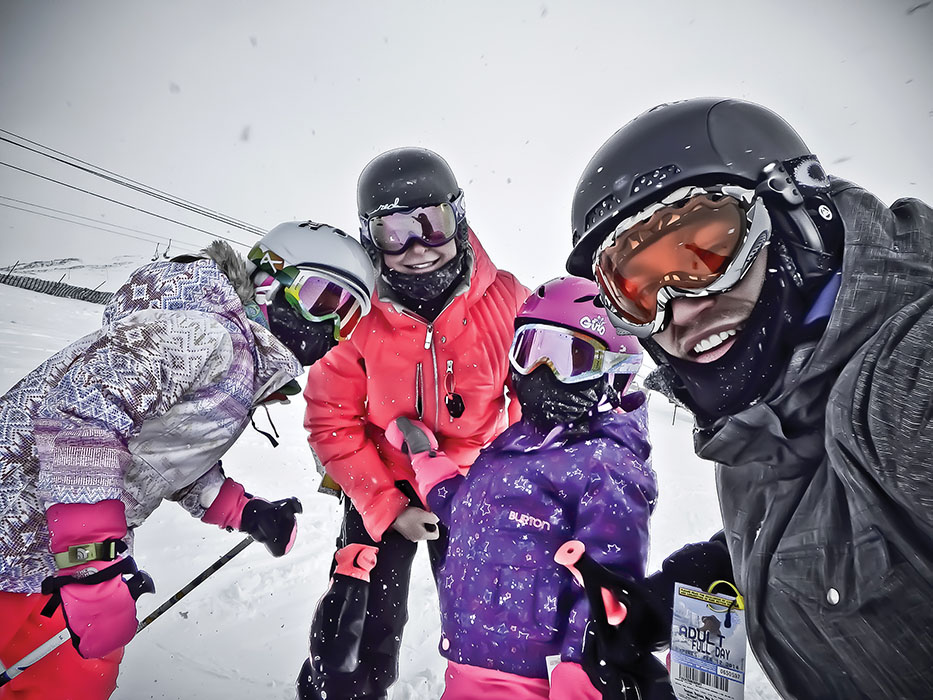 Ference family snow