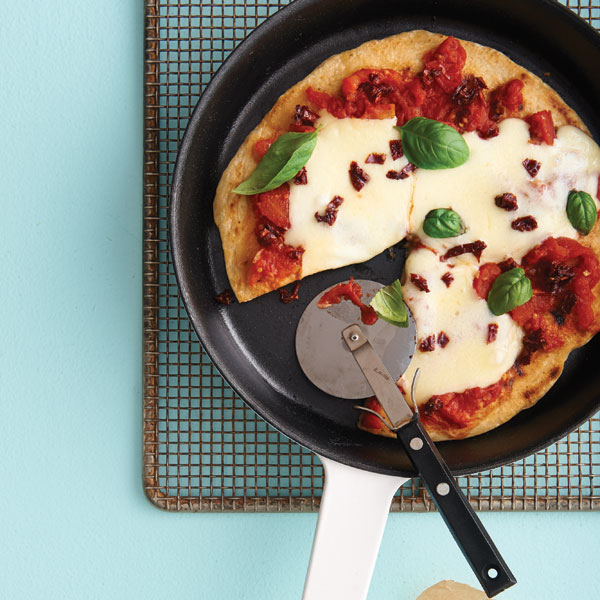 Skillet one-pan pizza recipe