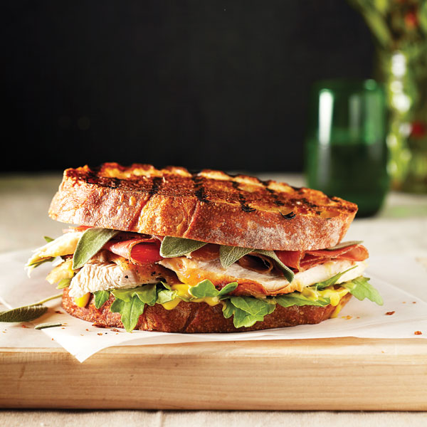 Turkey and prosciutto panini with sage. (Photo, Sian Richards.)