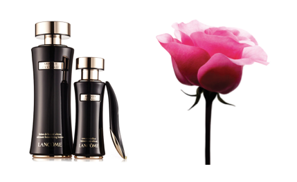Absolue L'extrait Ultimate beautifying lotion, $140, elixir-concentrate, $395. And Lancome Rose