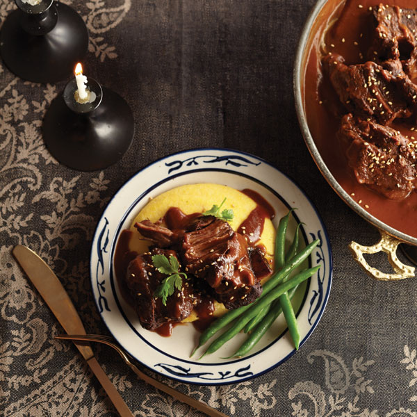 Mole-braised beef short ribs