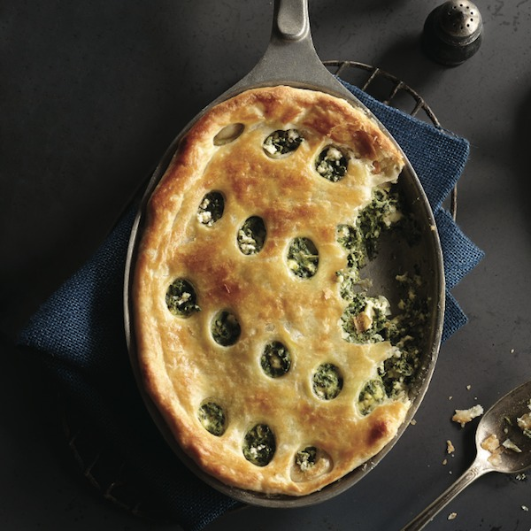Spinach and feta pan pie