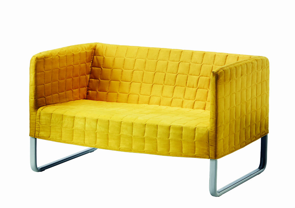 couch-sofa-quilted-upholstery-yellow-ikea