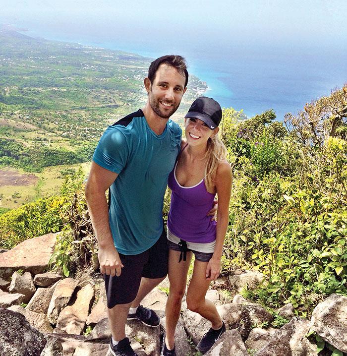 Sam and Rachel in St. Lucia on their honeymoon. Photo, courtesy of Rachel.