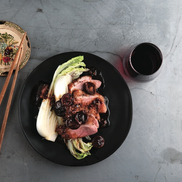 Crispy szechuan duck with napa cabbage