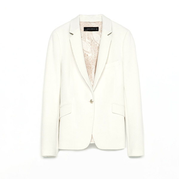 How to wear a crisp white blazer for day or night