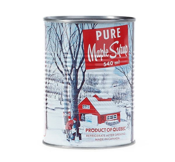 Can of maple syrup