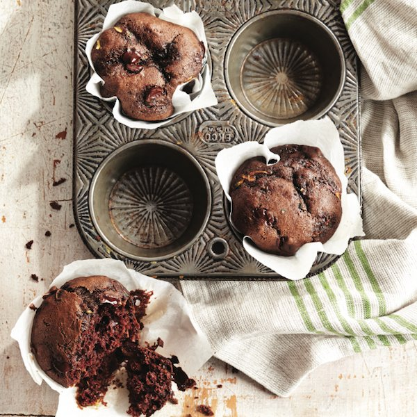 Muffin recipes: Chocolate-zucchini muffins