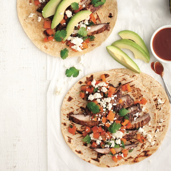 Soft tortillas: Grilled portobello mushroom fajitas