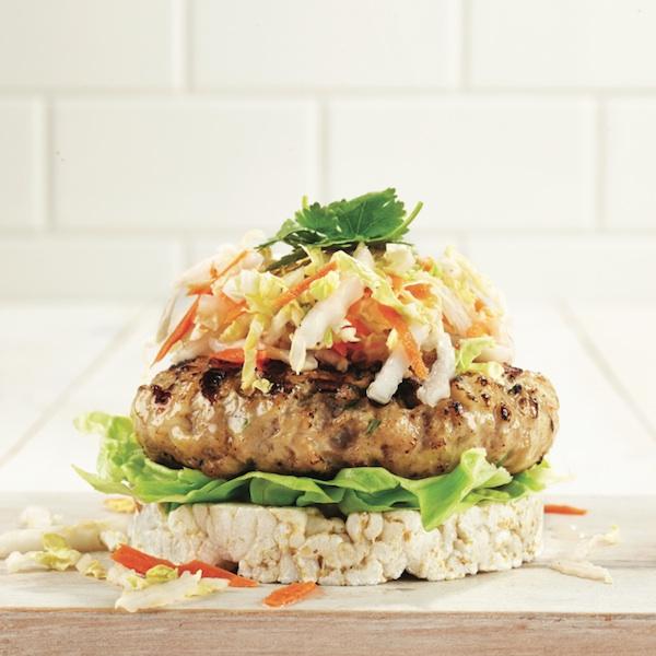 Grilled shrimp and pork burger