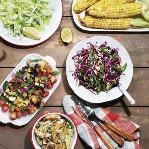 Grilled side salads