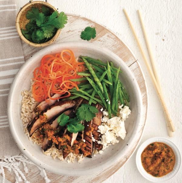 Mushroom rice bowl