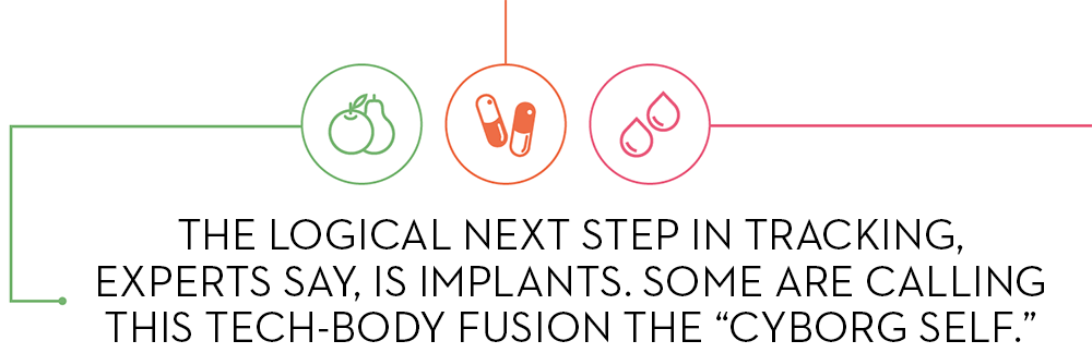 "THE LOGICAL NEXT STEP IN TRACKING, EXPERTS SAY, IS IMPLANTS. SOME ARE CALLING THIS TECH-BODY FUSION THE ""CYBORG SELF."""