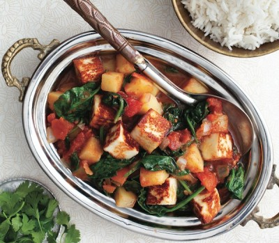 Easy dinner recipes to make this week: Paneer curry with potatoes and spinach