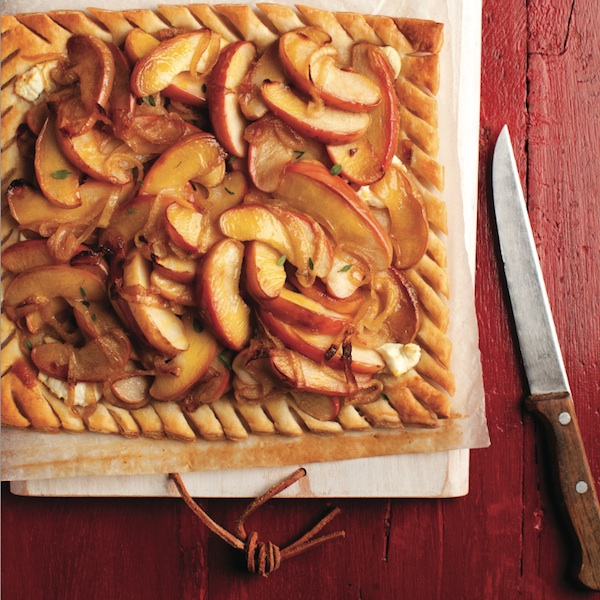 Apple and caramelized onion tart