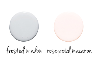 Frosted window, Rose macaron