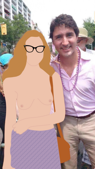 Justin Trudeau posed with a topless woman — hooray!